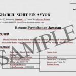 Reka Bentuk Contoh Resume
